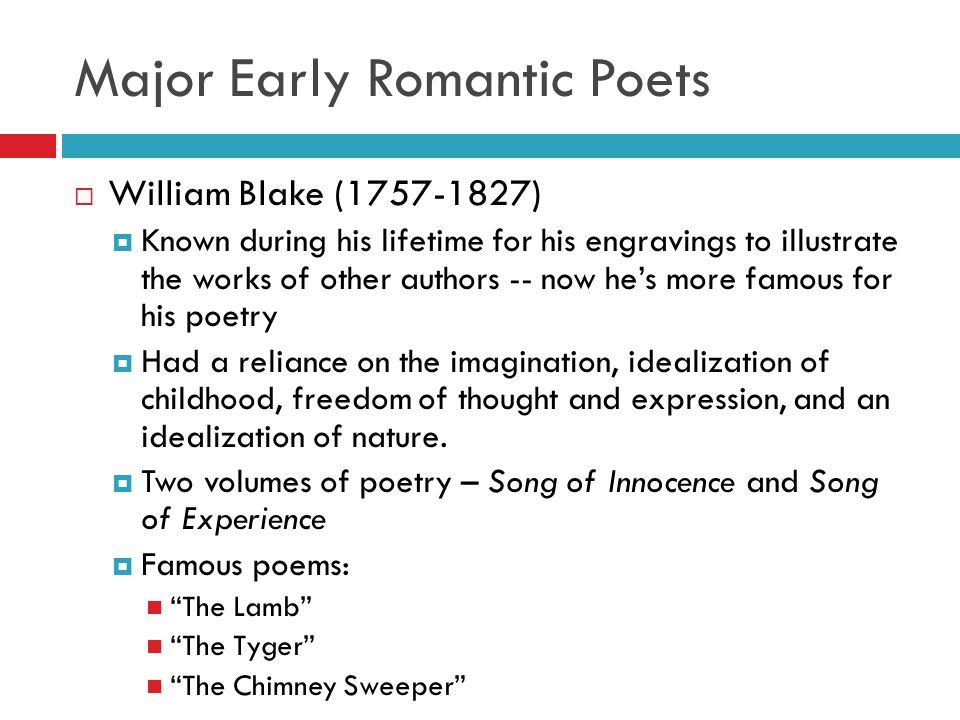 blake as a romantic poet