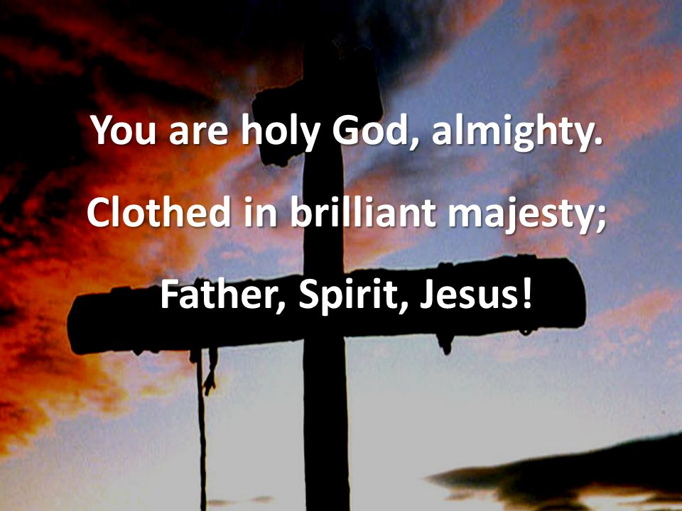 You are holy God, almighty