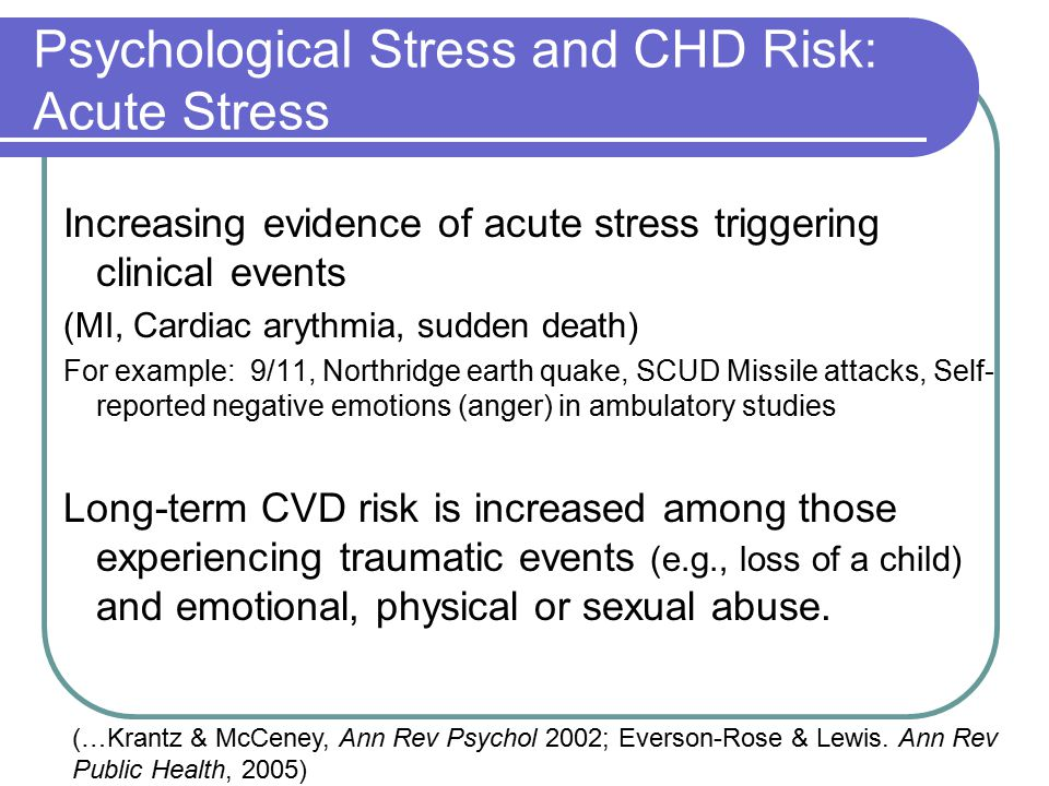 Psychological Stress And Health Ppt Video Online Download