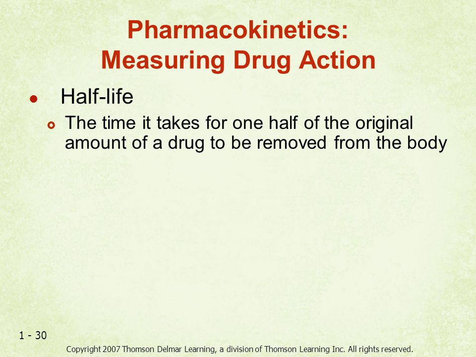Pharmacokinetics: Measuring Drug Action