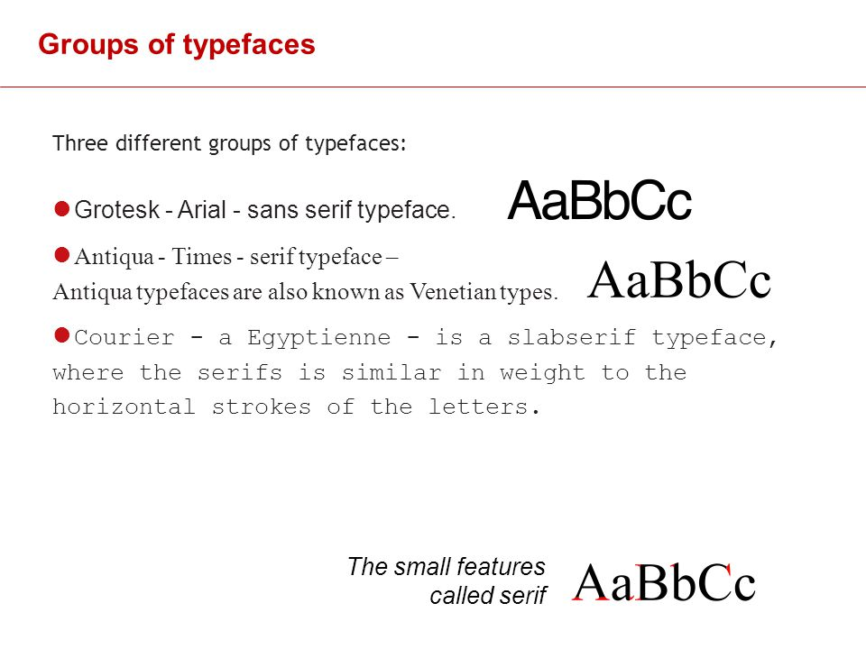 Groups Of Typefaces Grotesk