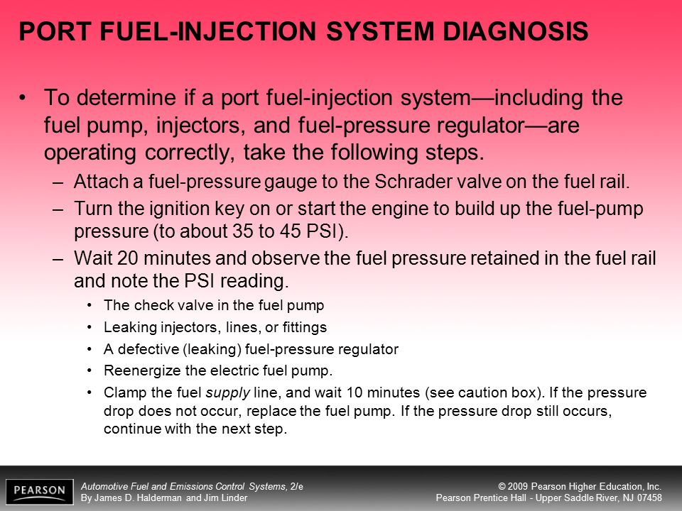 PORT FUEL-INJECTION SYSTEM DIAGNOSIS
