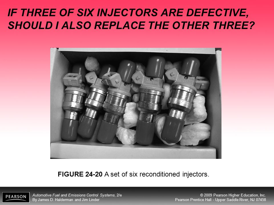 IF THREE OF SIX INJECTORS ARE DEFECTIVE, SHOULD I ALSO REPLACE THE OTHER THREE