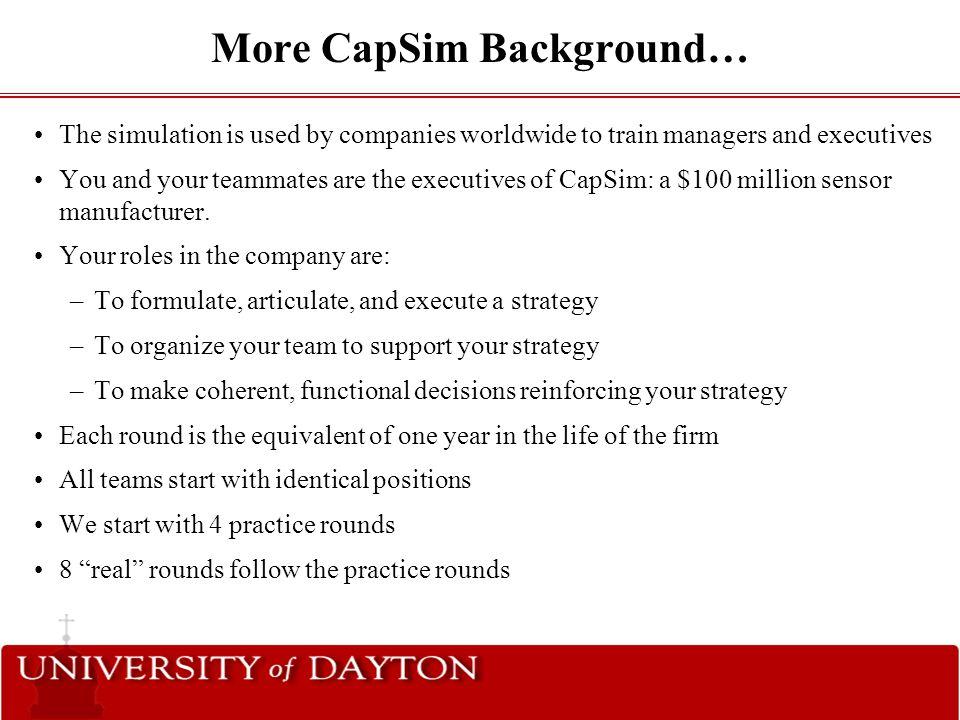capsim strategy
