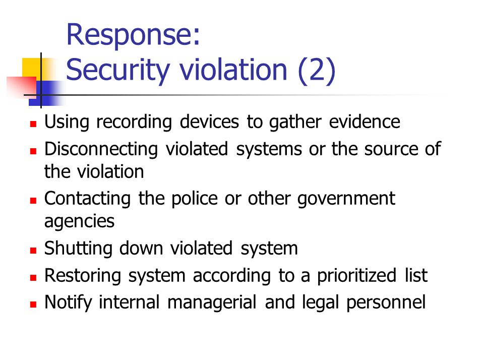 Response: Security violation (2)