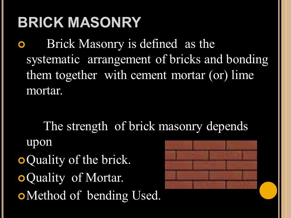 Brick masonry construction ppt