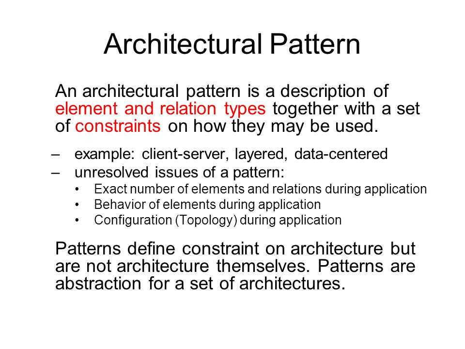 Architectural Description Example
