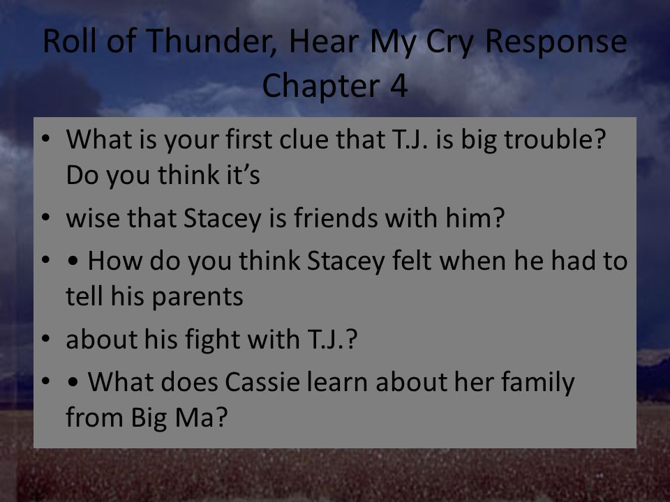 roll of thunder hear my cry chapter 1 questions