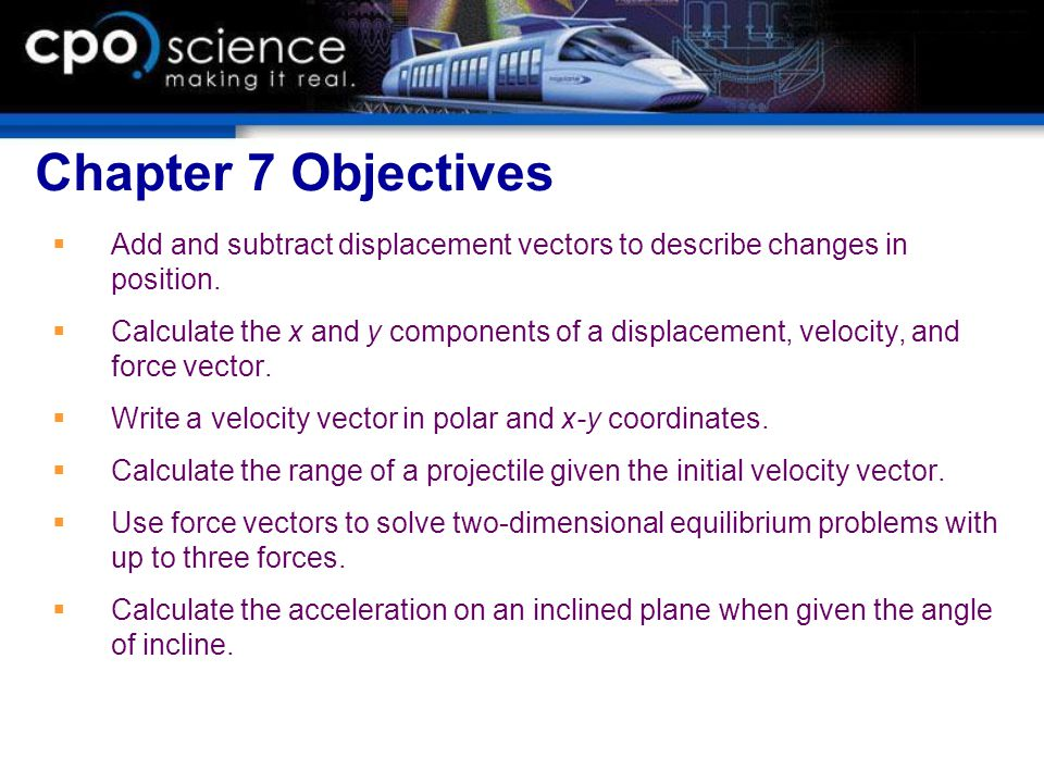 Chapter 7 Using Vectors Motion And Force Ppt Video Online Download