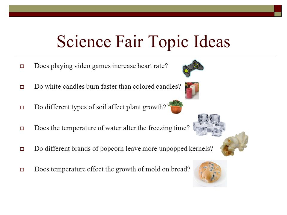 science topic ideas
