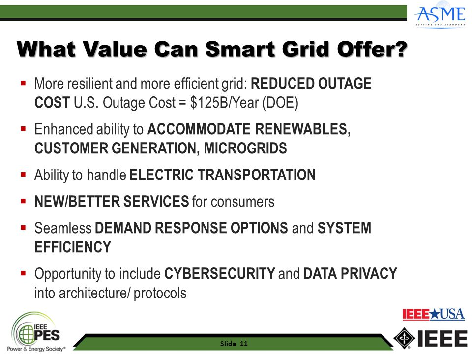 What Value Can Smart Grid Offer