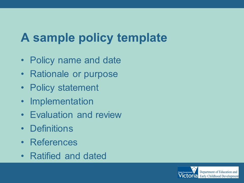 Policy development helpful hints school councils ppt download a sample policy template maxwellsz