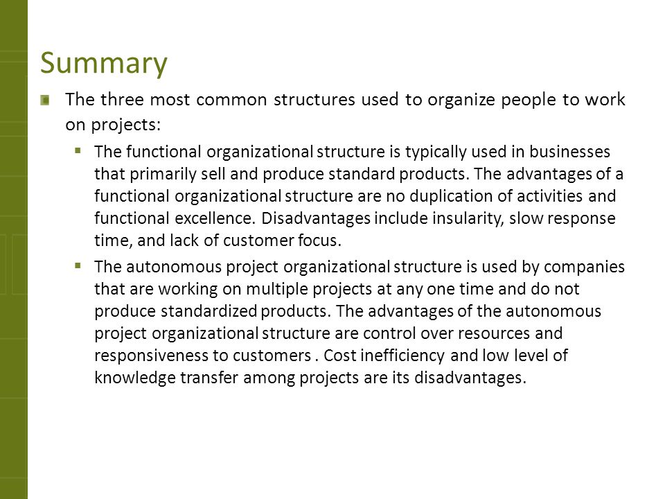 advantages of simple organizational structure