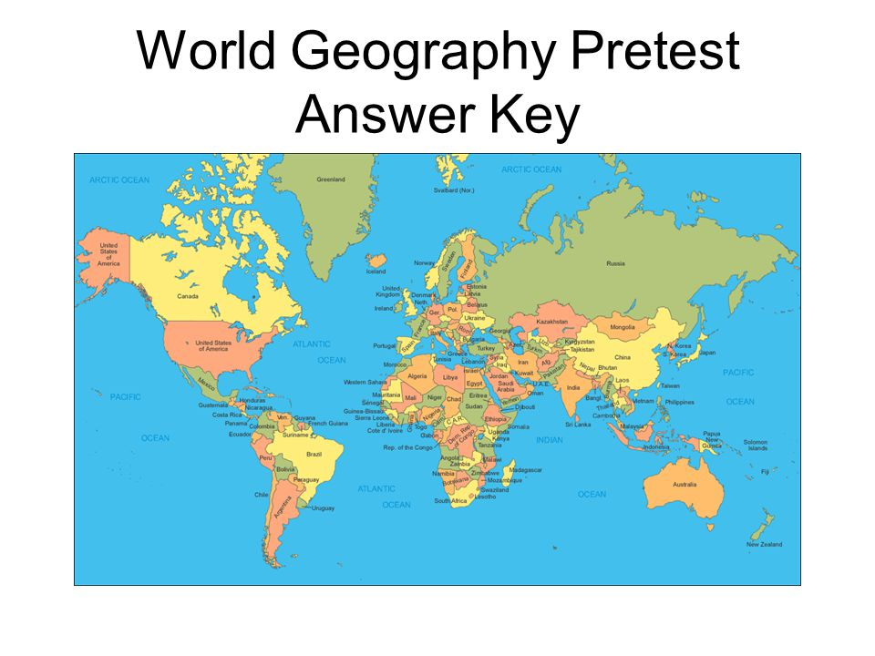 World geography pretest ppt video online download 8 world geography pretest answer key gumiabroncs Images