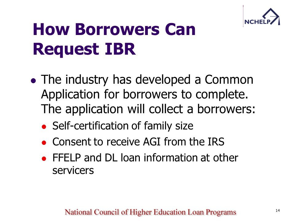 How Borrowers Can Request IBR