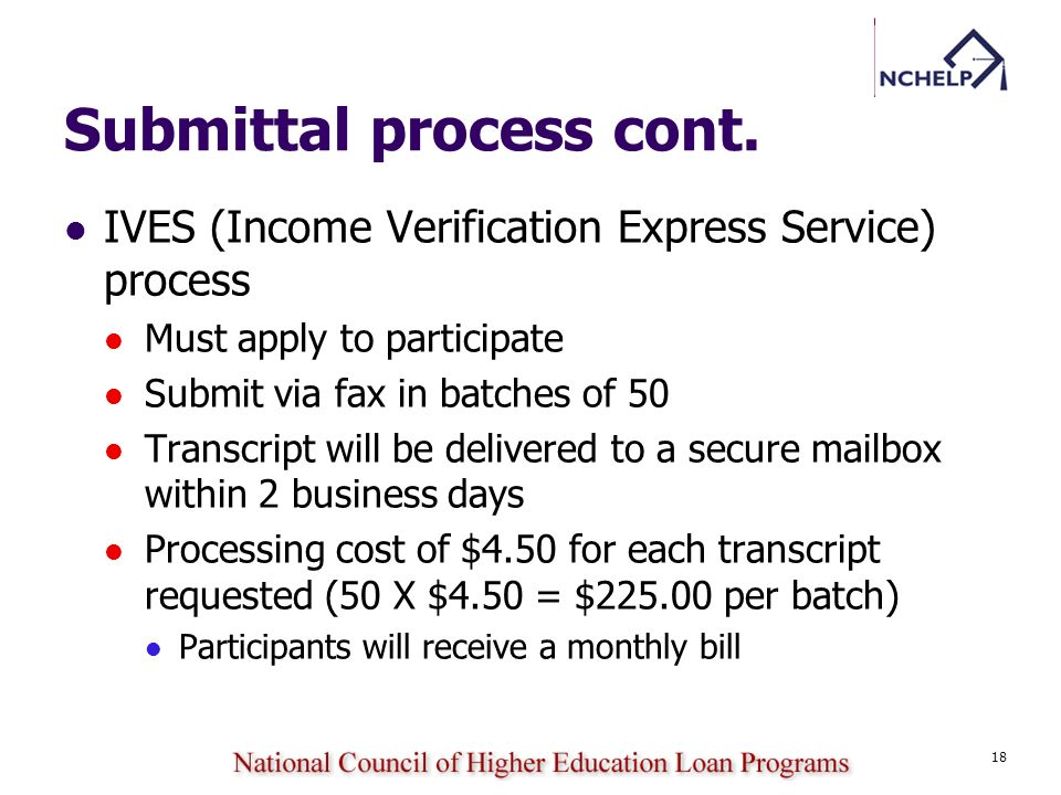 Submittal process cont.