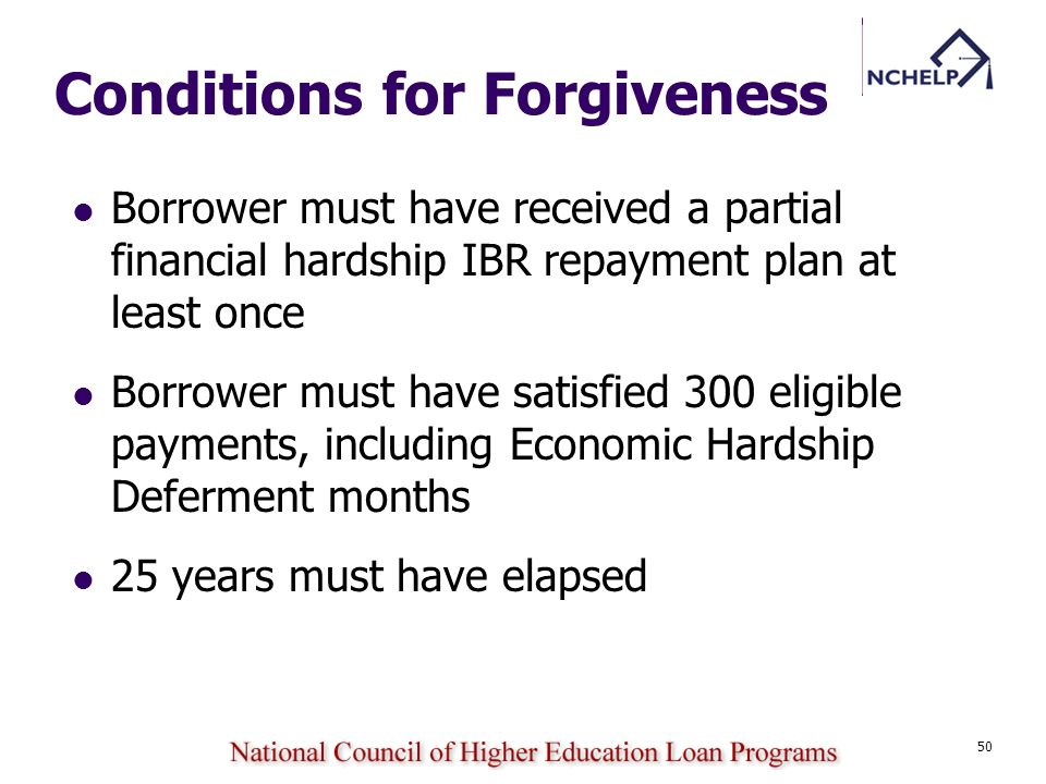 Conditions for Forgiveness