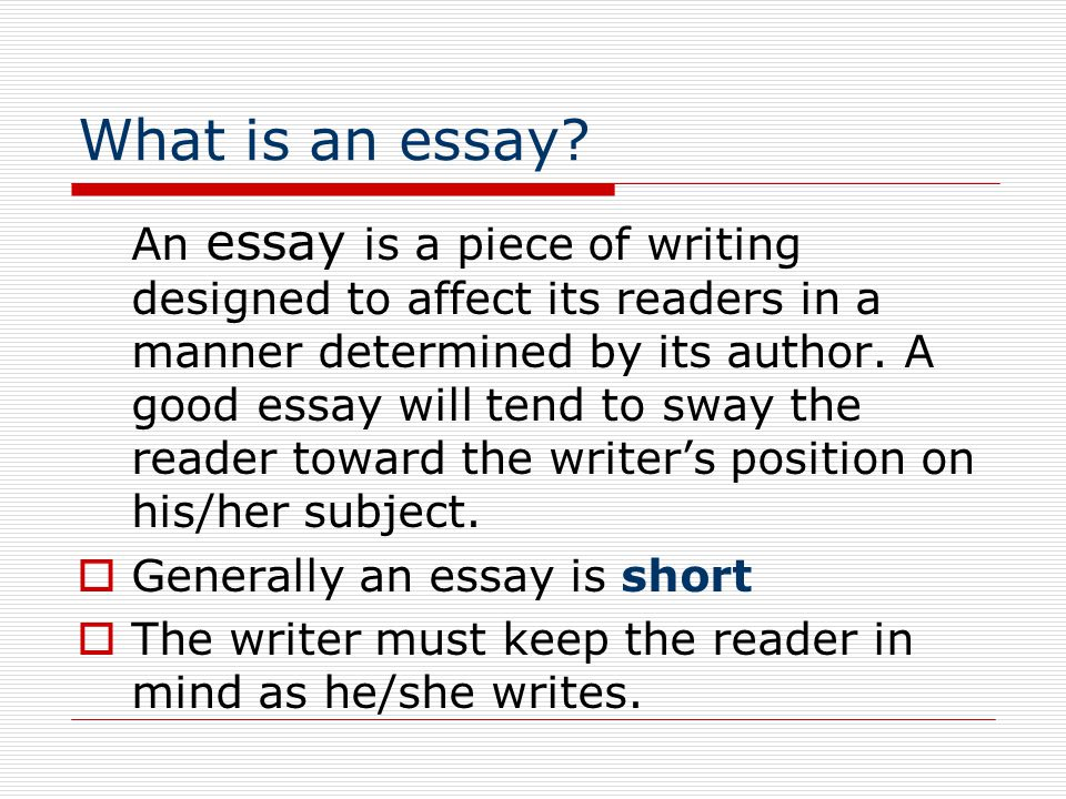 Essay On Healthy Eating What Is An Essay Essay On My School In English also Locavores Synthesis Essay Essay Writing Elements Of The Essay  Ppt Download Sample Essays For High School Students