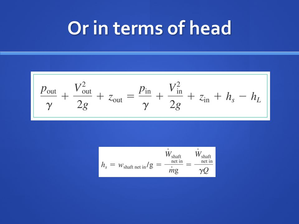 Or in terms of head