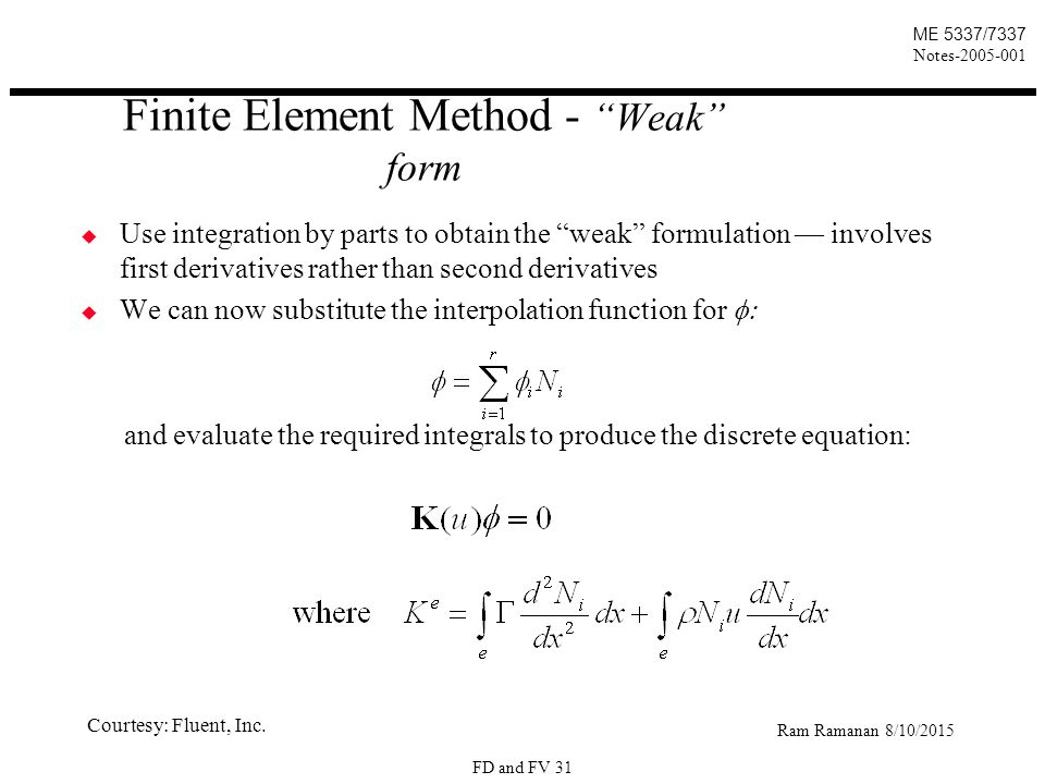 Transport Equations Mass conservation - ppt download