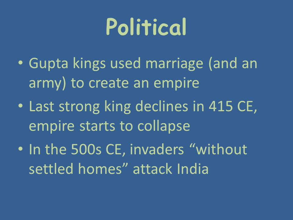 Political Gupta kings used marriage (and an army) to create an empire