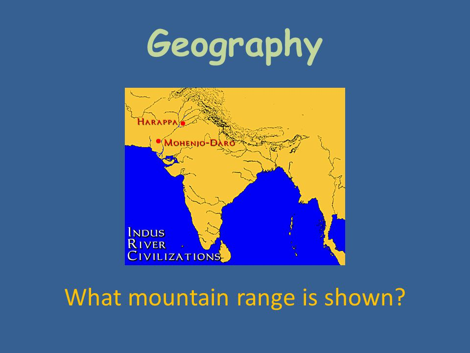 What mountain range is shown