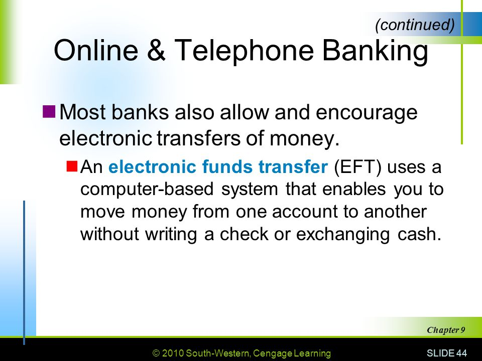 Online & Telephone Banking