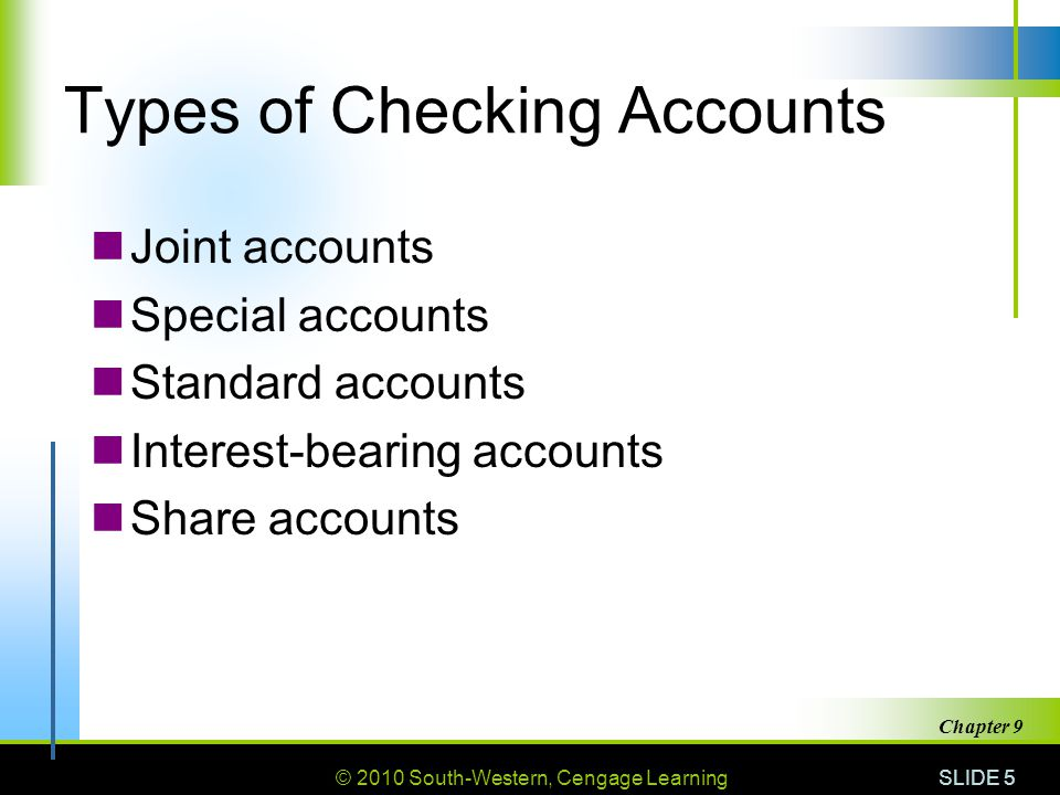 Types of Checking Accounts