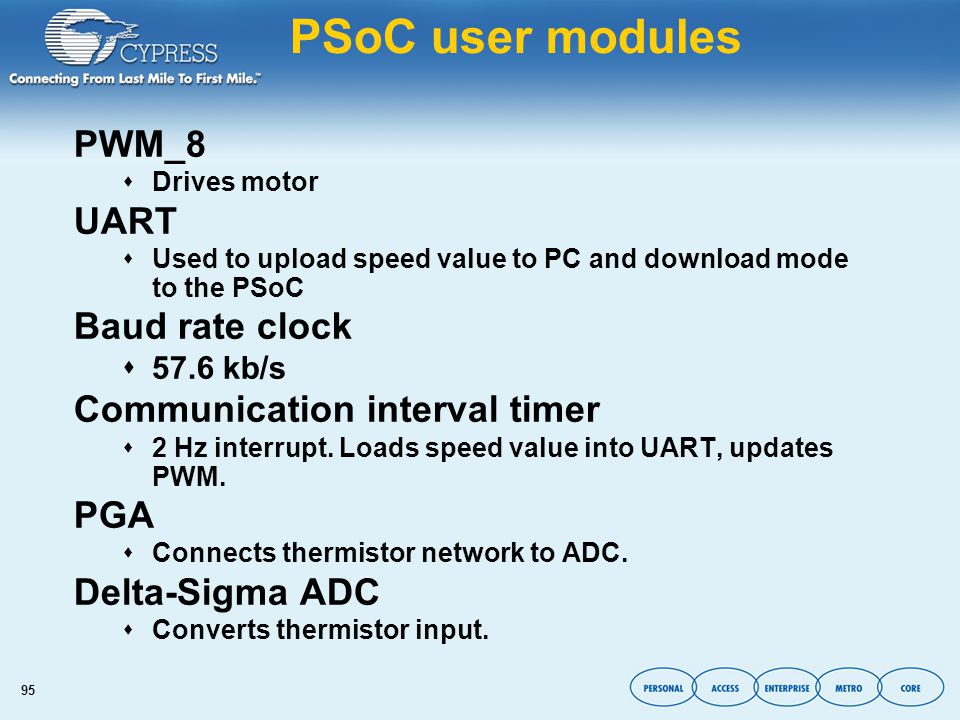 PSoC: Configurable Mixed-Signal Array with On-chip
