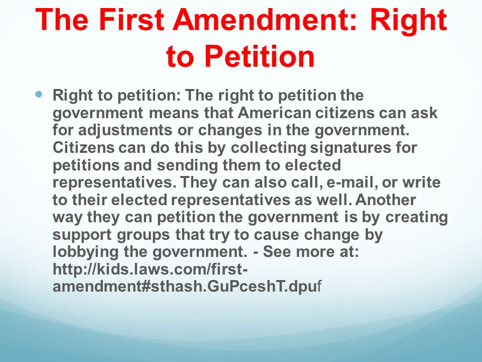 right to petition amendment ss and writing standards ppt 9016