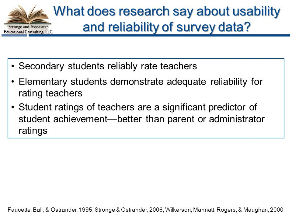 What does research say about usability and reliability of survey data