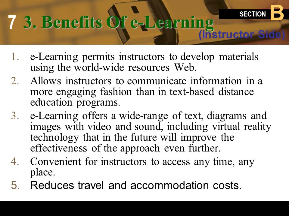 3. Benefits Of e-Learning