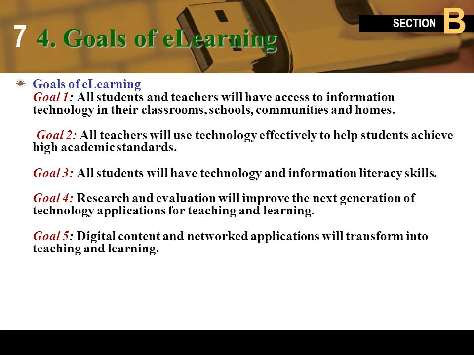 4. Goals of eLearning