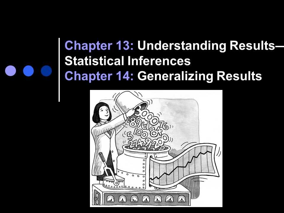 Chapter 13: Understanding Results—Statistical Inferences Chapter 14: Generalizing Results