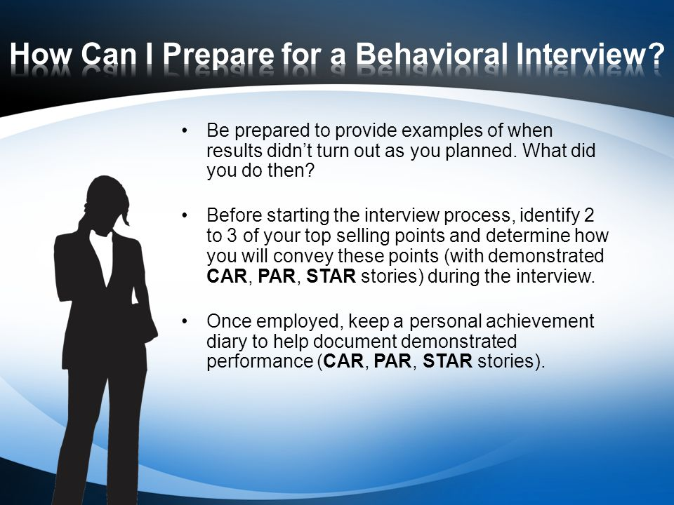 how can i prepare for a behavioral interview