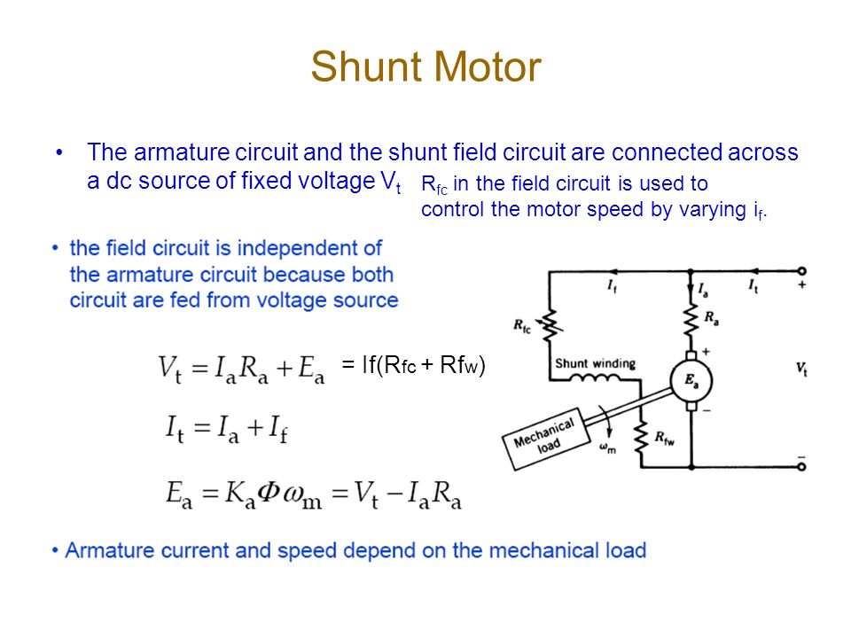 speed control of dc shunt motor thesis In the special case of dc motors with shunt configuration (saneifard, 1998), has carried out the design of a fuzzy logic controller capable of maintaining constant speed in a shunt dc motor.