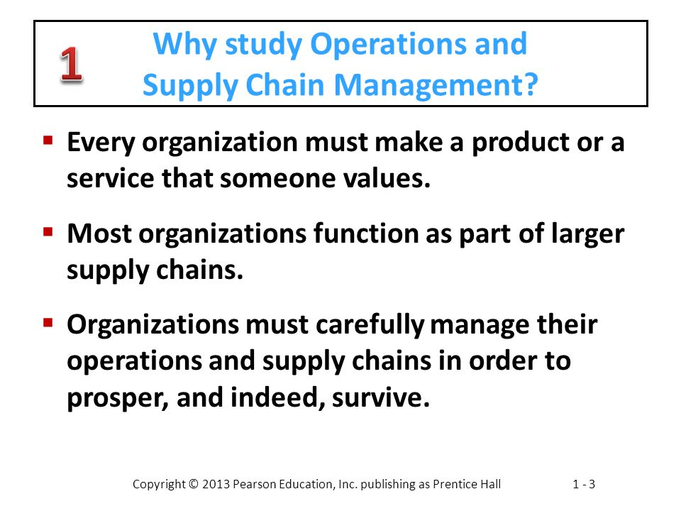 Why study Operations and Supply Chain Management