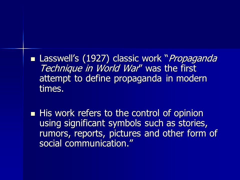 Theories Of Propaganda Ppt Video Online Download