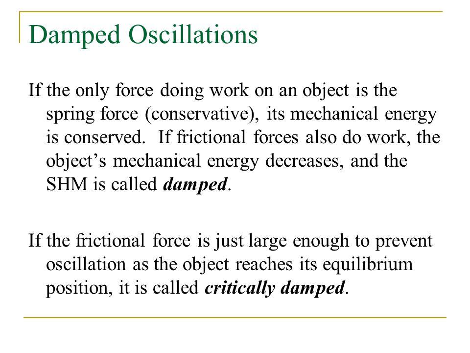 damped simple harmonic motion pdf
