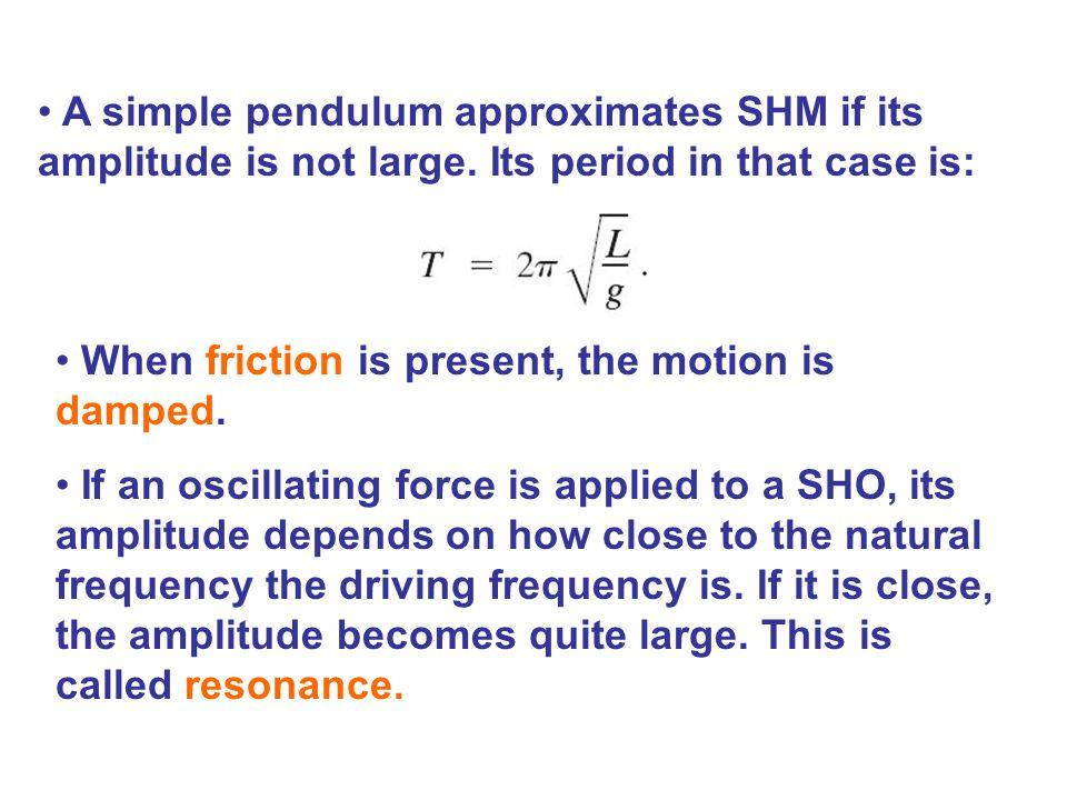 64 A Simple Pendulum