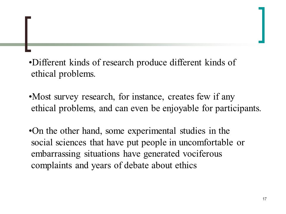 Different kinds of research produce different kinds of
