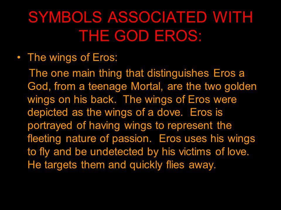 Eros God Of Love And Desire Major Myth Ppt Video Online Download
