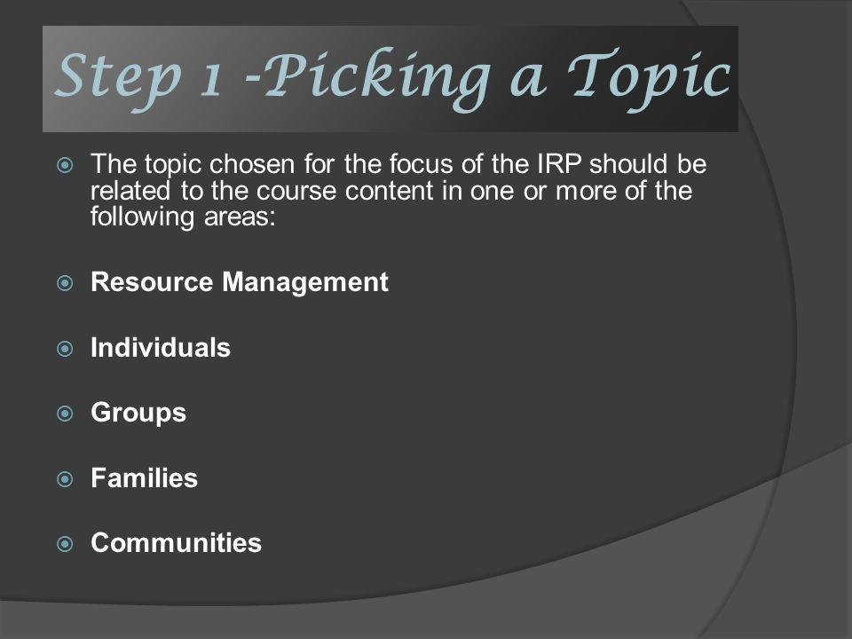 cafs irp research proposal examples