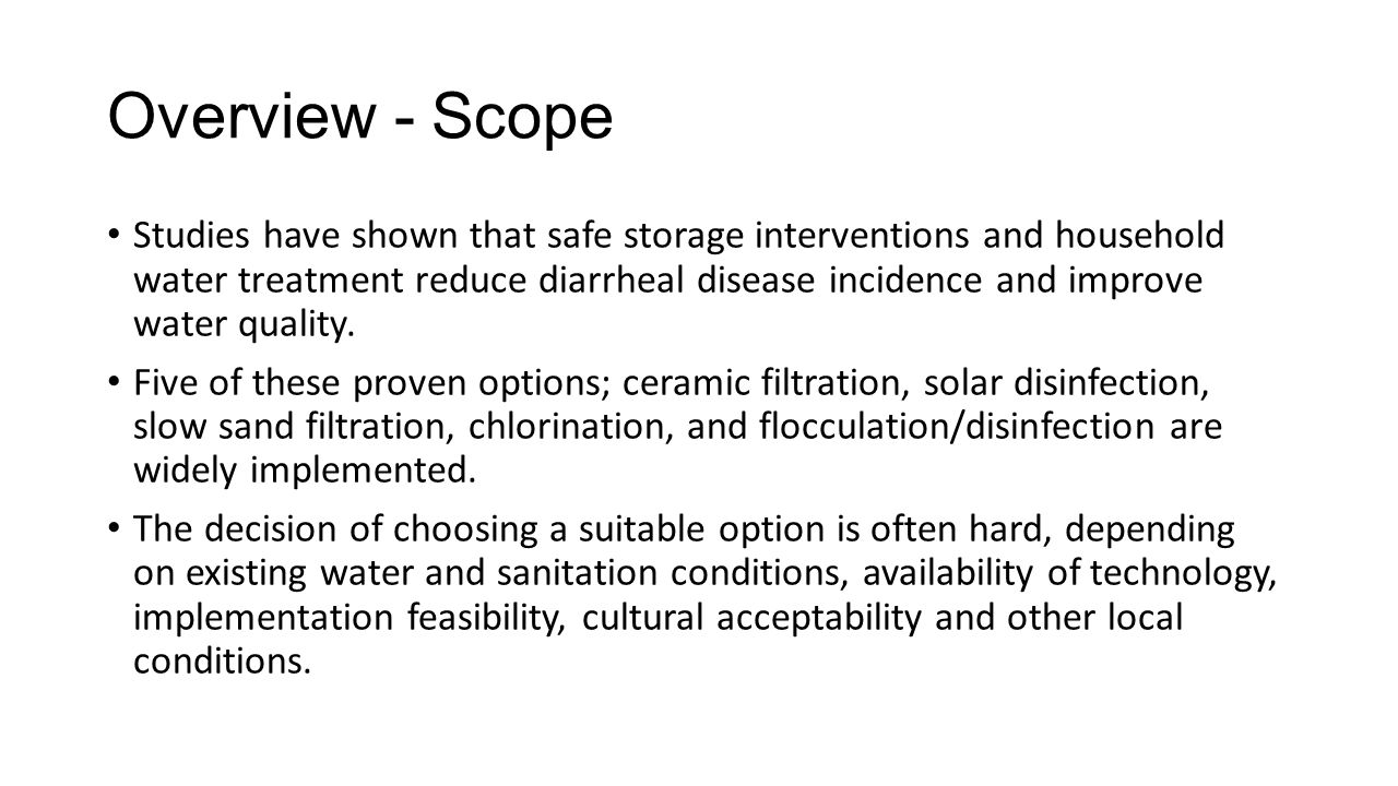 Overview - Scope