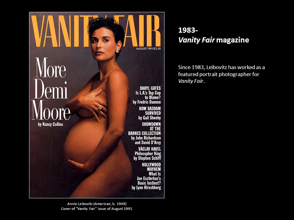 1983 Vanity Fair Magazine Since Leibovitz Has Worked As A Featured Portrait Photographer