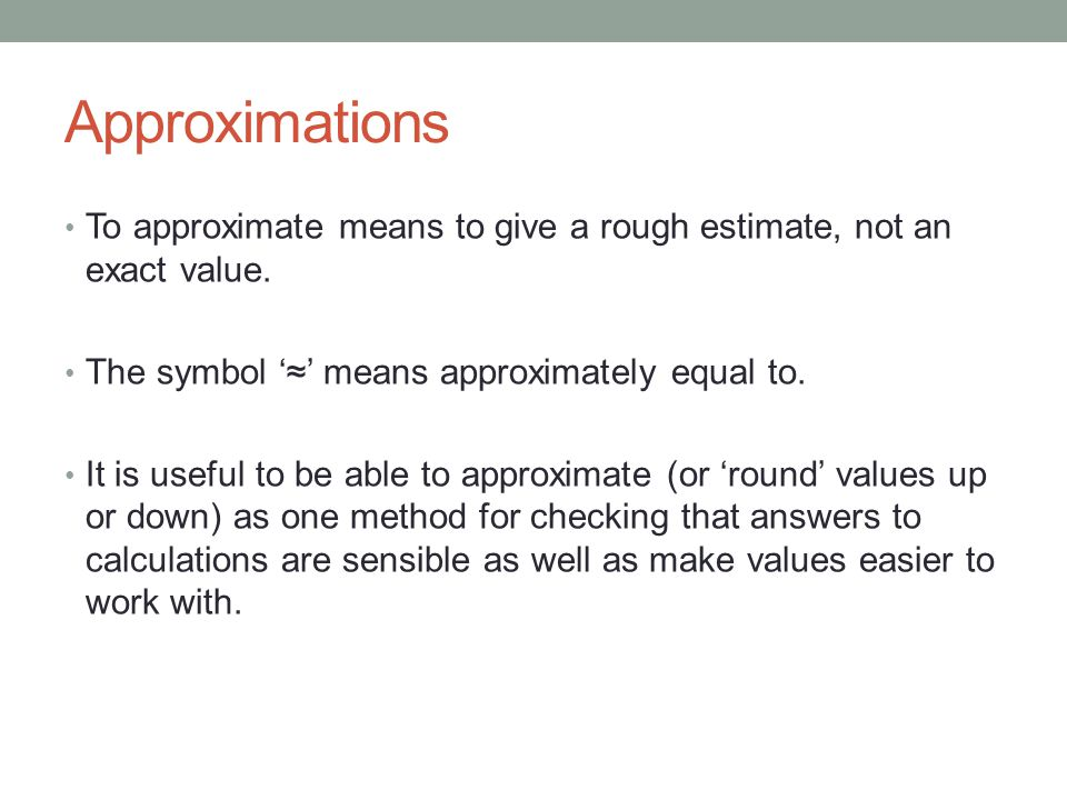 Approximations Rounding Ppt Download