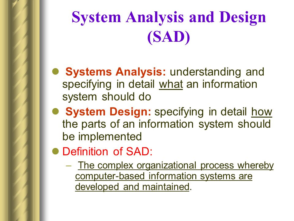 Qmis331 Information System Analysis And Design Isad Ppt Download