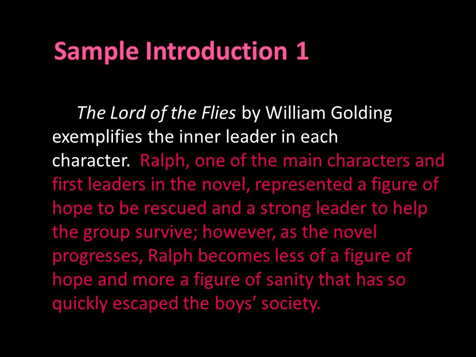 hook for lord of the flies symbolism essay