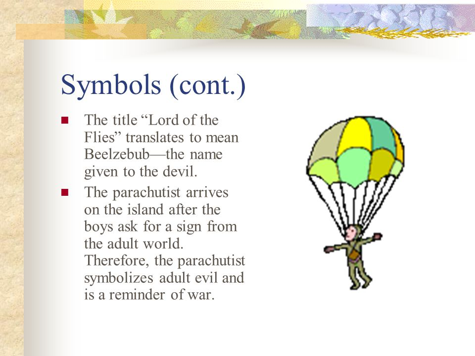 Symbolism In Lord Of The Flies Ppt Video Online Download