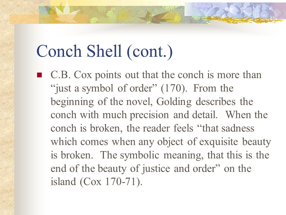 the importance of the conch in lord of the flies